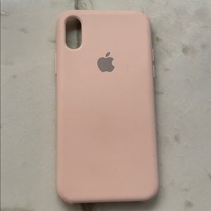 iPhone X silicone case pink. Good condition